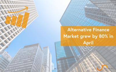 Alternative Finance Market grew by 80% in April